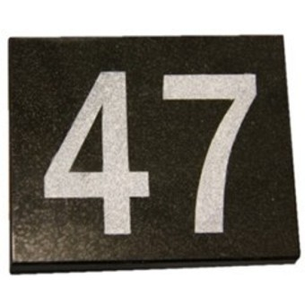 TMX90 laser engraved granite house number sample