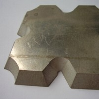 CTR MicroStep AquaCut sample - waterjet cut metal