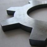 CTR MicroStep MSF fibre laser metal cut sample - cog