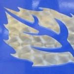 CTR MicroStep MSF fibre laser metal cut sample - leaf design