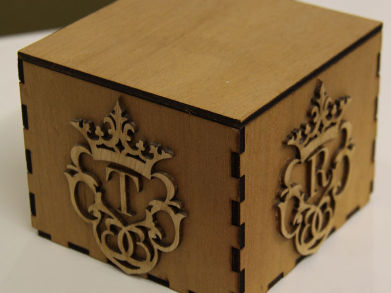 Cheap laser cut wood box