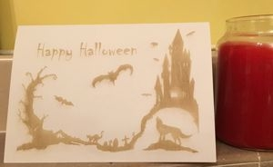 CTR laser engraved Halloween card
