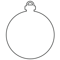 Christmas Tree Bauble outline design file