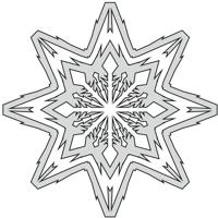 2D flat snowflake design file