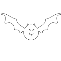 Halloween Bat version 1 design file