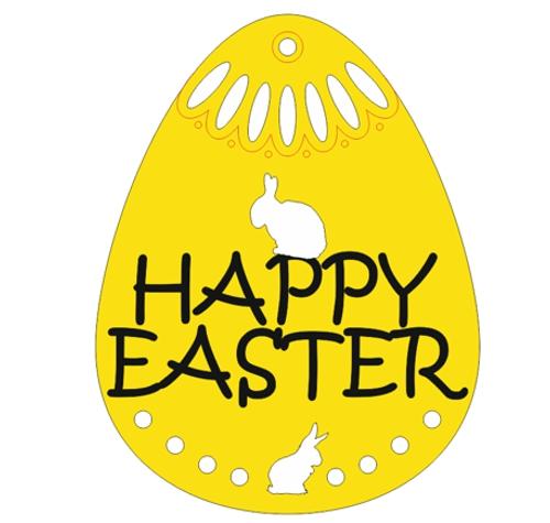Happy Easter Egg design file