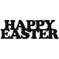 Happy Easter text design file