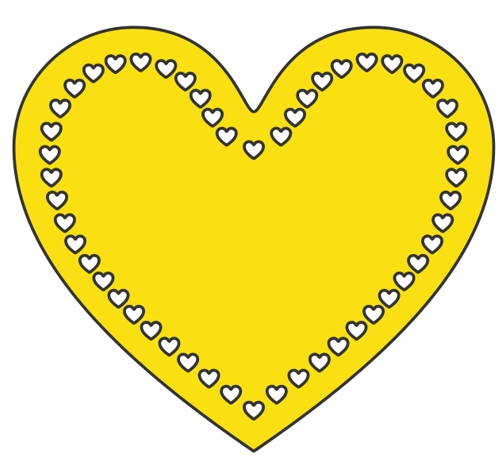 Heart outline with smaller hearts inside design file