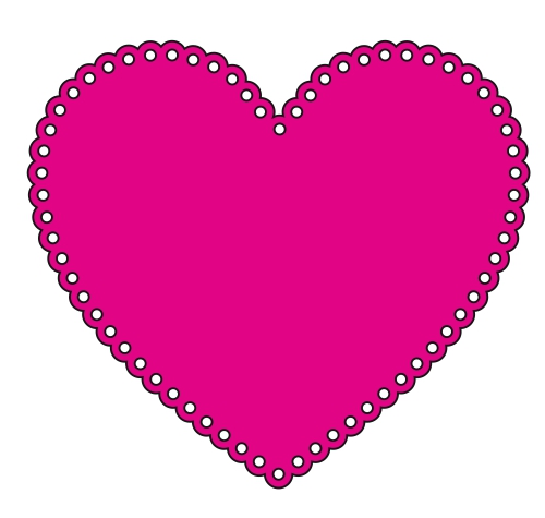 Heart outline lace-style design file
