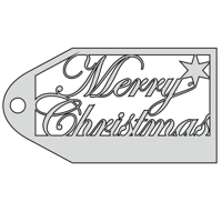 Merry Christmas Gift Tag design file