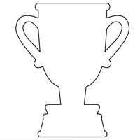 Trophy Cup outline design file