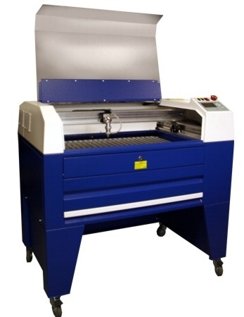 British CO2 laser machine TMX65 - lid open